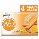 Godrej No.1 Sandal Turmeric Natural Oil 3+1 125g