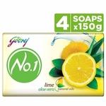 Godrej No.1 Lime Aloe Vera Natural Oil 3+1 125g