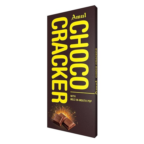 Amul Choco Cracker Chocolate (With Melt In Mouth Pop) -150g