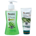 Himalaya Purifying Neem Face Wash (Pump) - 200ml (With Himalaya Purifying Neem Scrub - 50g FREE)