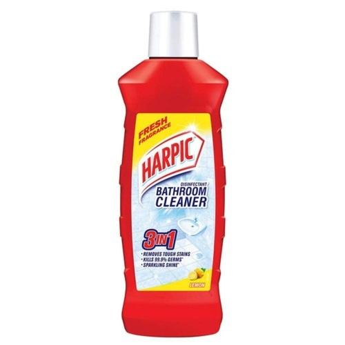 Harpic Disinfectant Bathroom Cleaner 10x Better Cleaning Lemon - 500ml