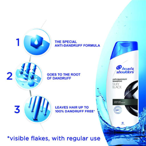 Head & Shoulder Anti Dandruff Shampoo - Silky Black - 180ml