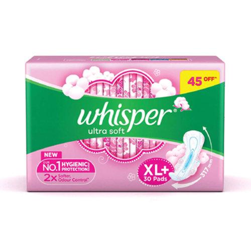 Whisper Ultra Soft  XL - 30pad