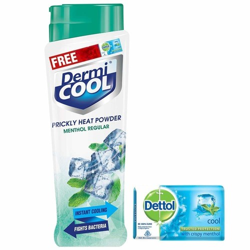 Dermi Cool Prickly Heat Powder (Menthol Regular) - 150g