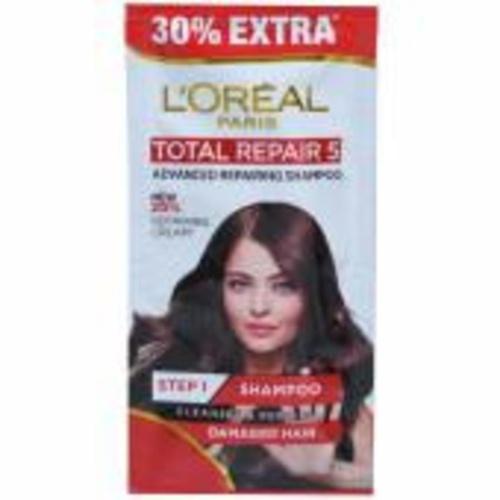 Loreal Paris Total Repair 5 Advanced Repairing Shampoo Ceramide Damagedhttps://myshopmatic.com/product_builder# Hair (Pouch) - 7.15ml