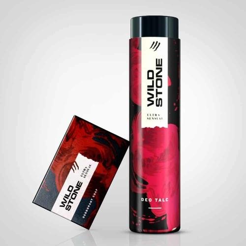 Wild Stone Ultra Sensual Fragrant Talc (With Deodrant Soap 125g FREE) - 300g