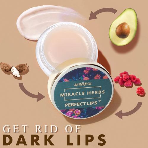 Miracle Herbs PERFECT LIPS, Lip Balm for Dark Lips to Lighten, 100 Organic Overnight Moisturizer, Sleeping Repairing Lip Balm for Dry Lips, Nourishing & Hydrating Lips - Pack of 1 8g