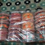 Silk thread bangles  full set