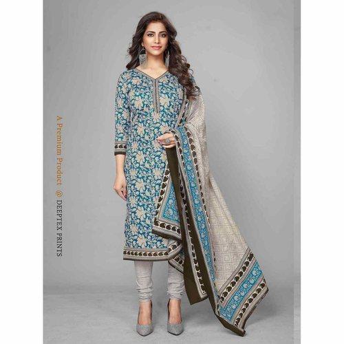 Deeptex Cotton Printed Dress Material DPT-113