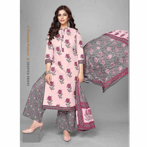 Deeptex Cotton Printed Dress Material DPT-110