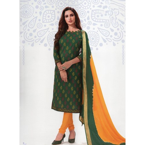 Premium Quality Printed Cotton Dress Material Online