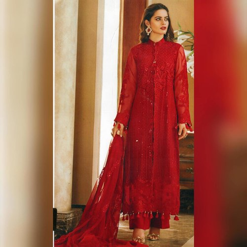 Pakistani Festive Hit Designer and Party Wear Salwar Suits Red
