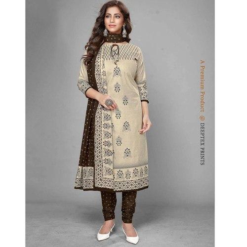 Deeptex Cotton Printed Dress Material DPT-112