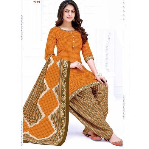 Pure Cotton Print Dress Material with Cotton dupattal SHR-102