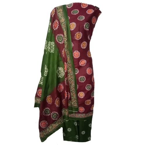 Batik Printed Cotton Dress Material BT-108