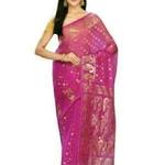 Jivika Pretty Cotton Silk Zari Muslin Work Sarees