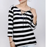 boat neck white awesome girl top