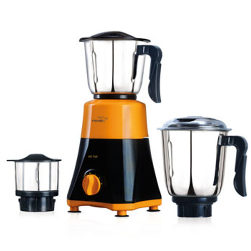 V-Guard Vx750 Mixer Grinder 3 Jar Bellow Black