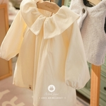 Lovely Cream Corduroy Dress