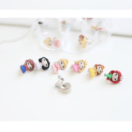 Set of 7 Princess Clip-On Earrings