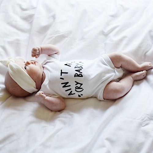 AINT NO CRY BABY Unisex Bodysuit