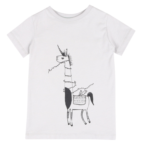 ONE SS UNICORN VAPOUR GREY (ORGANIC COTTON)