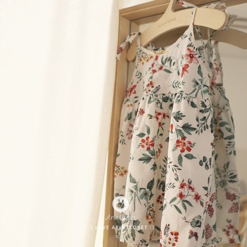 (RESTOCK) Green Flower Baby Long Dress