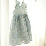 RESTOCK Baby Flower Cotton Dress Sky Blue