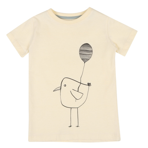 ONE SS BALLOON BIRD YELLOW (ORGANIC COTTON)