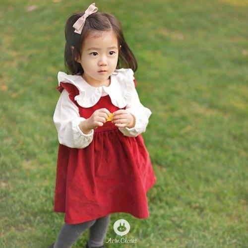 Corduroy Red Dress