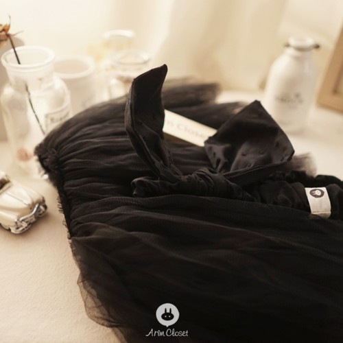 Black Baby Ribbon Tutu