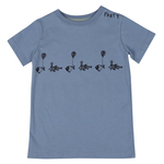 ONE SS FISH PARTY FADED DENIM ORGANIC COTTON