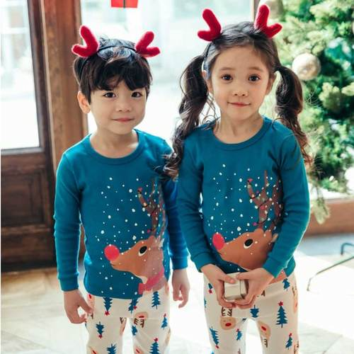 Snow Rudolph Christmas PJs