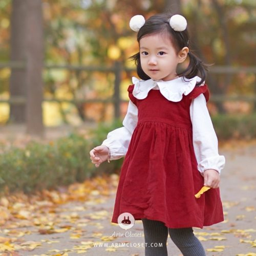 Corduroy Red Dress
