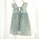 RESTOCK Baby Flower Cotton Dress Sky Blue