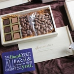Zest Wooden Box Classic with Chocolate Nutties