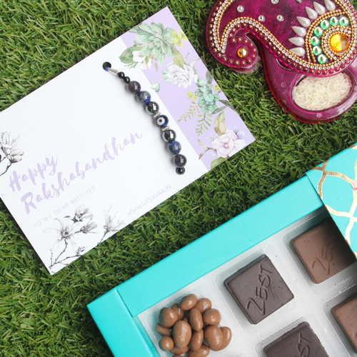 Chocolate Rakhi Kumkumbox Combo- Zest Chocolates