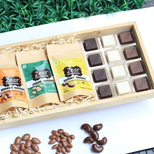 Zest Trio Hamper Chocolates and Nutties