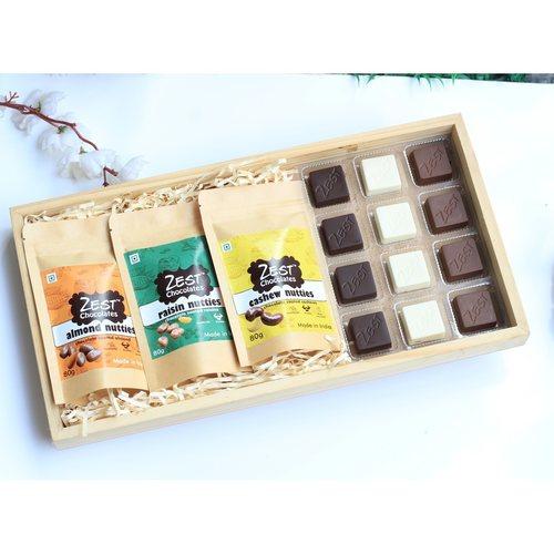 Zest Trio Hamper Chocolates and Nutties