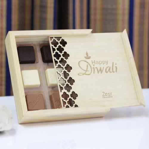 Zest Diwali Wooden Box