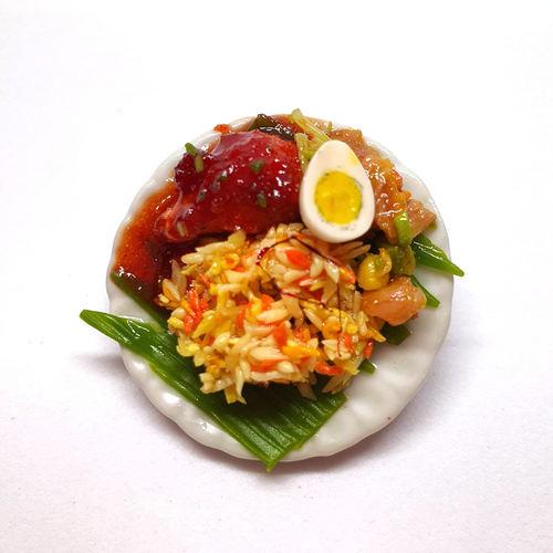 Handmade Miniature: Nasi Padang by Madam Ang Miniature World