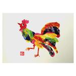 Zodiac Postcard Rooster by Patrick Yee