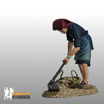 Samsui Woman Clearing Soil Figurine