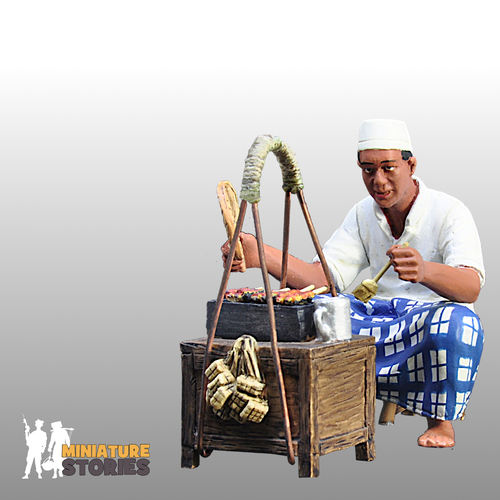 Satay Man with Stall Figurine