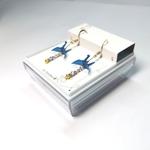 Paper Crane Earrings by My Paper Earrings