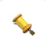 Handmade Brooch: Large Thread Spool (Plain Yellow 3) by Doe & Audrey