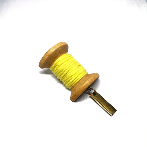 Handmade Brooch: Large Thread Spool (Plain Yellow 2) by Doe & Audrey