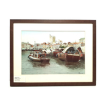 Heritage Water Colour Painting  Singapore River by Loy Chye Chuan