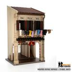 Singapore Heritage Shophouse Model - White