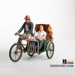 Trishaw Rider and Customer Figurine